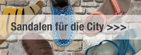 City Sandalen bei Unterwegs